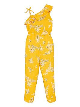 V by Very V By Very Girls Floral Printed Jumpsuit - Multi Picture