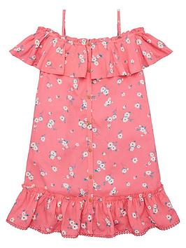 V by Very V By Very Girls Woven Floral Strappy Dress - Multi Picture