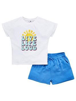 v-by-very-girls-live-life-love-t-shirt-ampnbspshort-set-multi