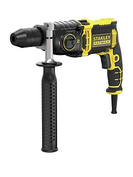 Stanley Fatmax Fmeh1100K-Gb 1100W 2-Speed Corded Impact Drill &Amp; Kit Box