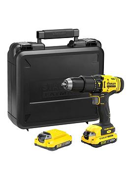 stanley-fatmax-stanley-fatmax-sfmcd711d21-gb-v20-18v-lithium-ion-combi-hammer-drill-2-x-20ah-batteries