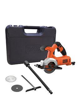 Black & Decker Black + Decker Bes510K-Gb 400W Mini Circular Saw + Kit Box