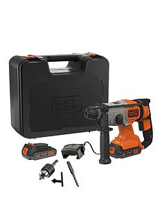 black-decker-black-decker-bcd900e2k-gb-18v-lithium-ion-sds-drill-2-x-25ah-batteries