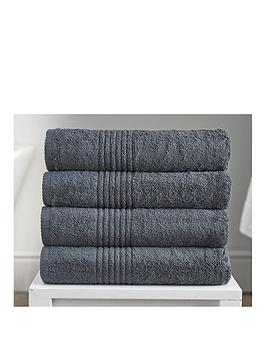 Very Eden Egyptian Pair Of Cotton Towels - Charcoal Picture
