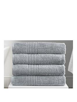 Very Eden Egyptian Pair Of Cotton Towels - Silver Picture