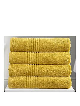 Very Eden Egyptian Pair Of Cotton Towels - Mustard Picture