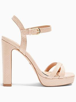 Topshop Topshop Sienna Platform Sandals - Pink Picture