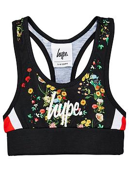 Hype Hype Girls Ditsy Floral Bralette - Black Picture