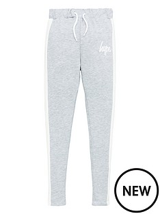 hype-girls-panel-jog-pants-grey