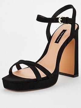 Topshop Topshop Sienna Platform Sandal - Black Picture