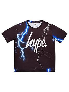 Hype Hype Boys Lightning Short Sleeve T-Shirt - Black Picture