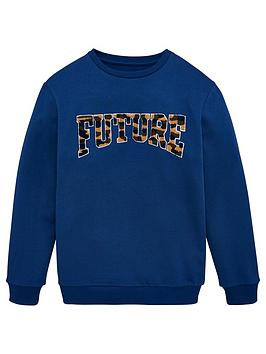 V by Very V By Very Boys Future Camo Sweatshirt - Blue Picture