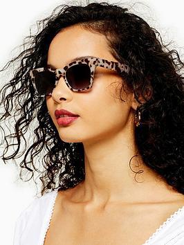 Topshop Topshop Phoebe Wayfarer Sunglasses - Tortoise Picture