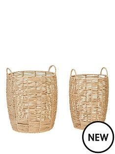 set-of-2-paper-rope-baskets