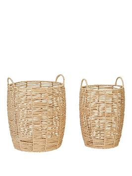 Very Set Of 2 Paper Rope Baskets Picture