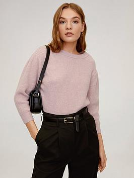 Mango Mango Cropped Sleeve Jumper - Light Pink Picture