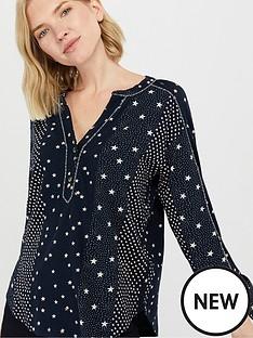 monsoon-sarai-star-print-shirt-navy