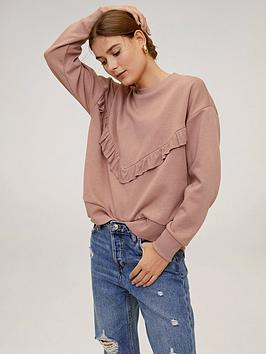 Mango Mango Frill Front Sweat - Light Pink Picture