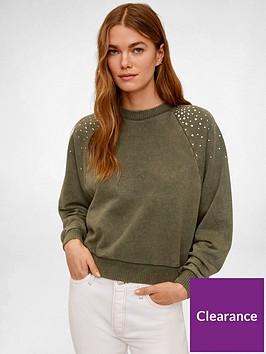 mango-embellished-shoulder-sweat-top-khaki