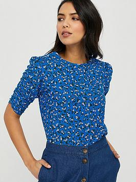 Monsoon Monsoon Fagen Ditsy Print Top - Blue Picture