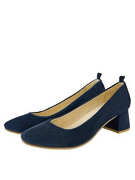 Monsoon Monsoon Callie Comfort Suede Day Shoe - Navy Picture