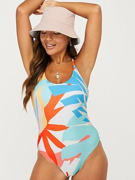 Accessorize Accessorize Palm Clash Recycled Swimsuit - Multi Picture
