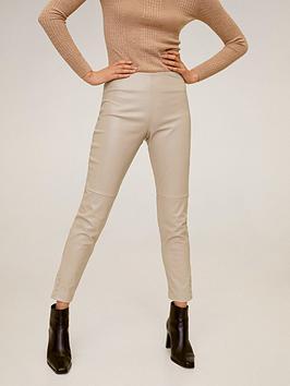 Mango Mango Faux Leather Basic Skinny Trouser - Light Pink Picture