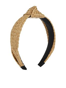 Monsoon Monsoon Rhi Raffia Headband - Natural Picture