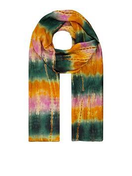 Monsoon Monsoon Terrah Tie Dye Silk Scarf - Multi Picture