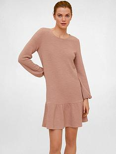 mango-peplum-hem-dress-light-pink