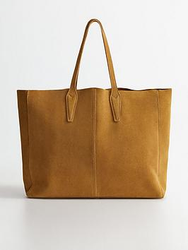 Mango Mango Oversized Suede Tote Bag - Medium Brown Picture