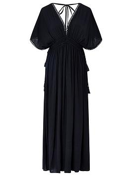 Accessorize   Double Channel Maxi Dress - Black