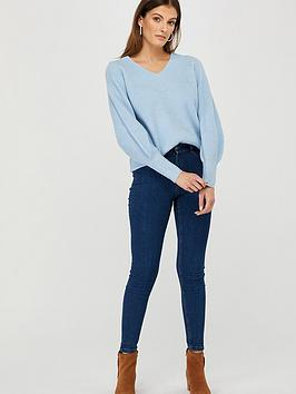 Monsoon Monsoon Georgie Ribbed Jumper - Blue Picture