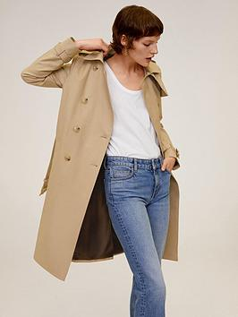Mango Mango Belted Trench Coat - Beige Picture