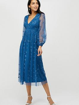 monsoon-lucinda-recycled-polyester-embroidered-mid-dress-blue
