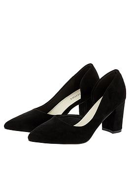 Monsoon Monsoon Matilda Cut Out Court Shoe - Black Picture