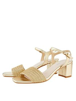 Monsoon Monsoon Olive Occasion Block Heel Sandal - Gold Picture
