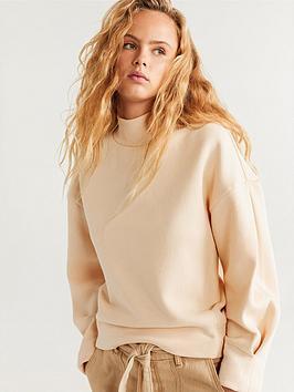 Mango Mango Funnel Neck Sweater - Light Brown Picture