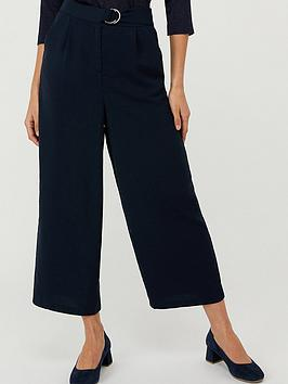 Monsoon Monsoon Mindy D-Ring Cropped Trouser - Navy Picture
