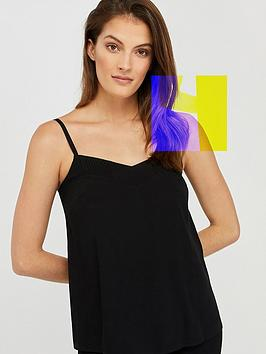 monsoon-mae-pleat-cami-black