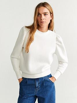 Mango Mango Extreme Puff Sleeve Top - Natural Picture