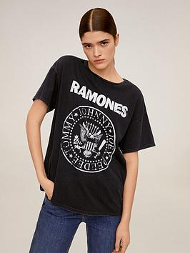 Mango Mango Ramones T-Shirt - Black Picture