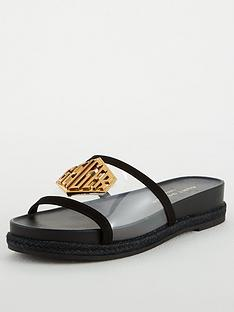 kurt-geiger-london-geiger-slide-flat-sandals-black