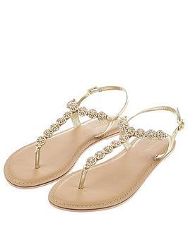 Accessorize Rome Embellished Sandal - Silver