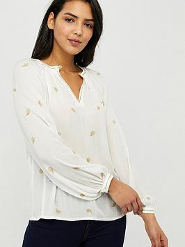 Monsoon Monsoon Pia Embroidered Top - Ivory Picture