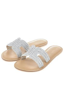 Accessorize  Bella Beaded Slider - Silver
