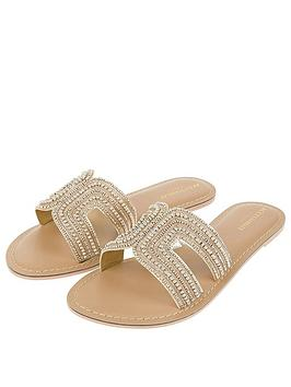 Accessorize   Bella Beaded Slider - Gold