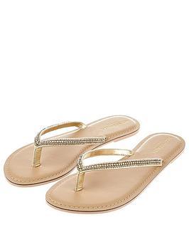 Accessorize Daniella Single Strap Sandals - Silver