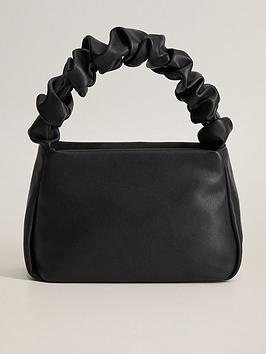 Mango Mango Crinkle Handle Mini Bag - Black Picture