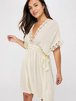 Accessorize   Geo Lace Kaftan - Cream